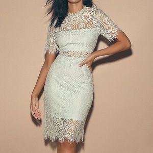 Lulus Light Mint Lace Dress